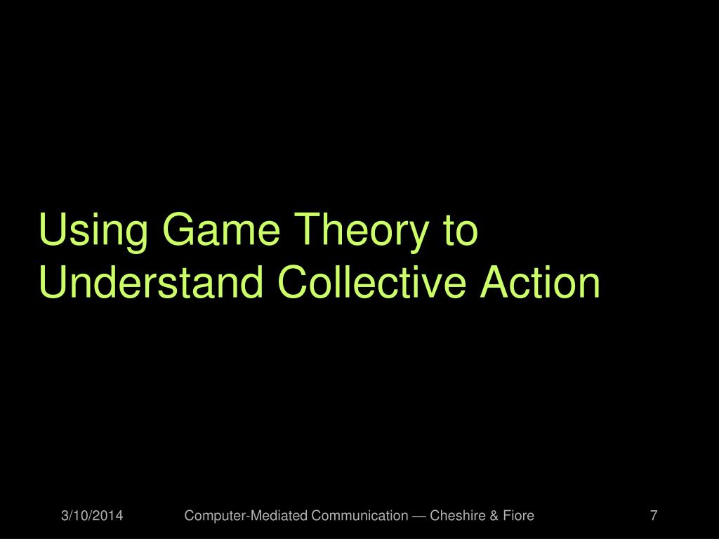 Using Game Theory to Understand Collective Action