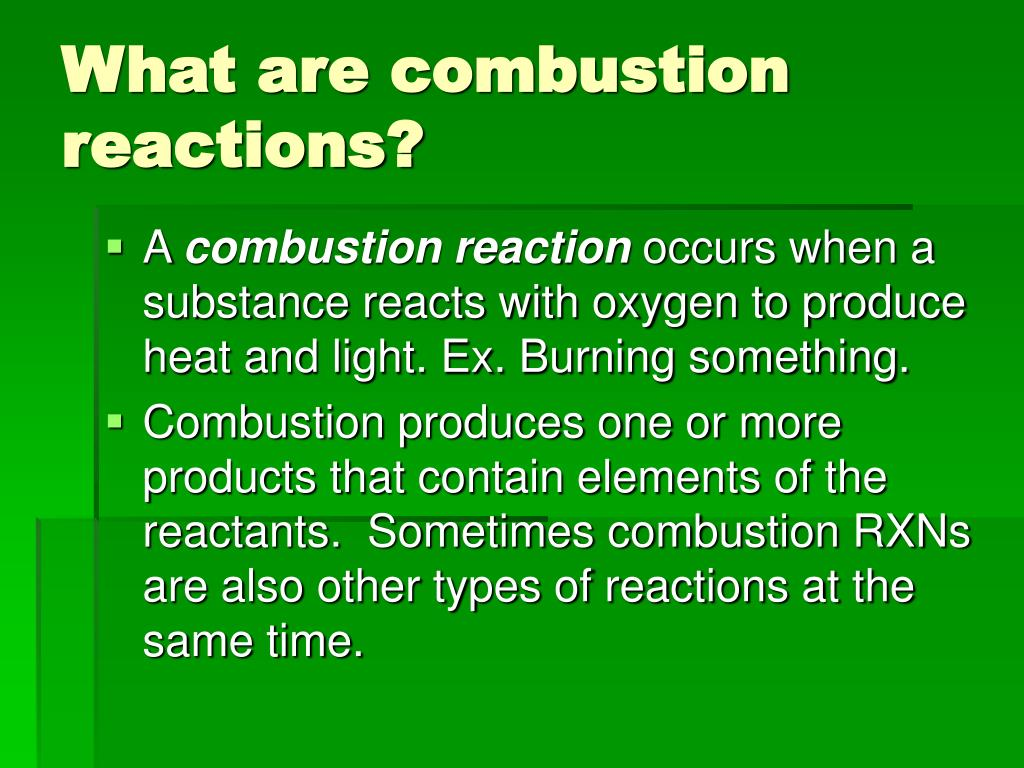 how to solve combustion reactions