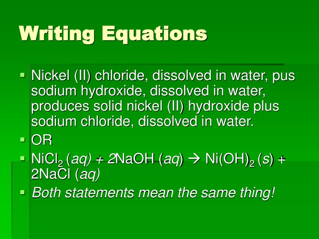 writing chemical equations ppt Do you find balancing the chemical equation a daunting task download our balancing chemical equations worksheets to learn more about the topic.