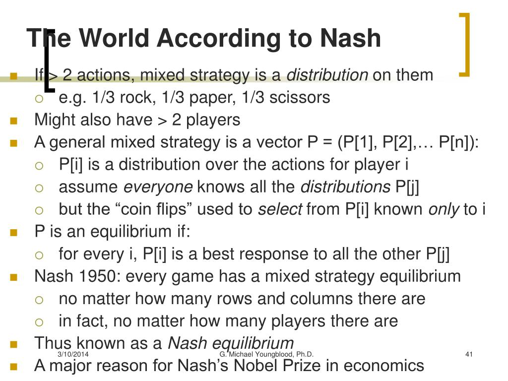 The World According to Nash