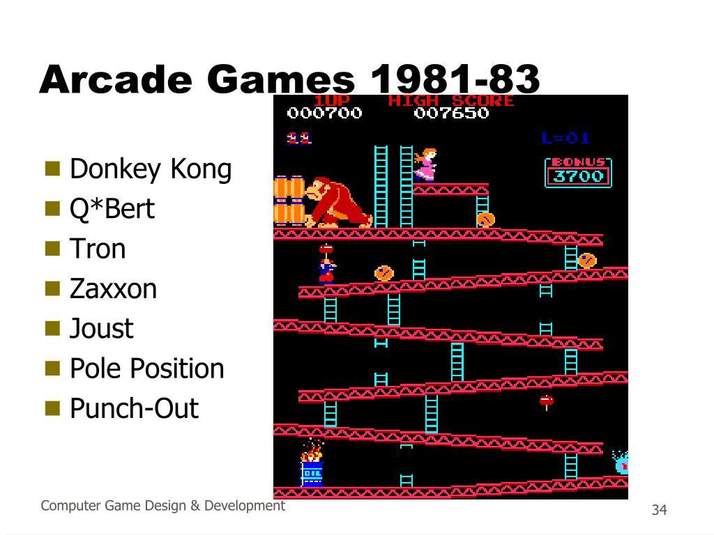 Arcade Games 1981-83