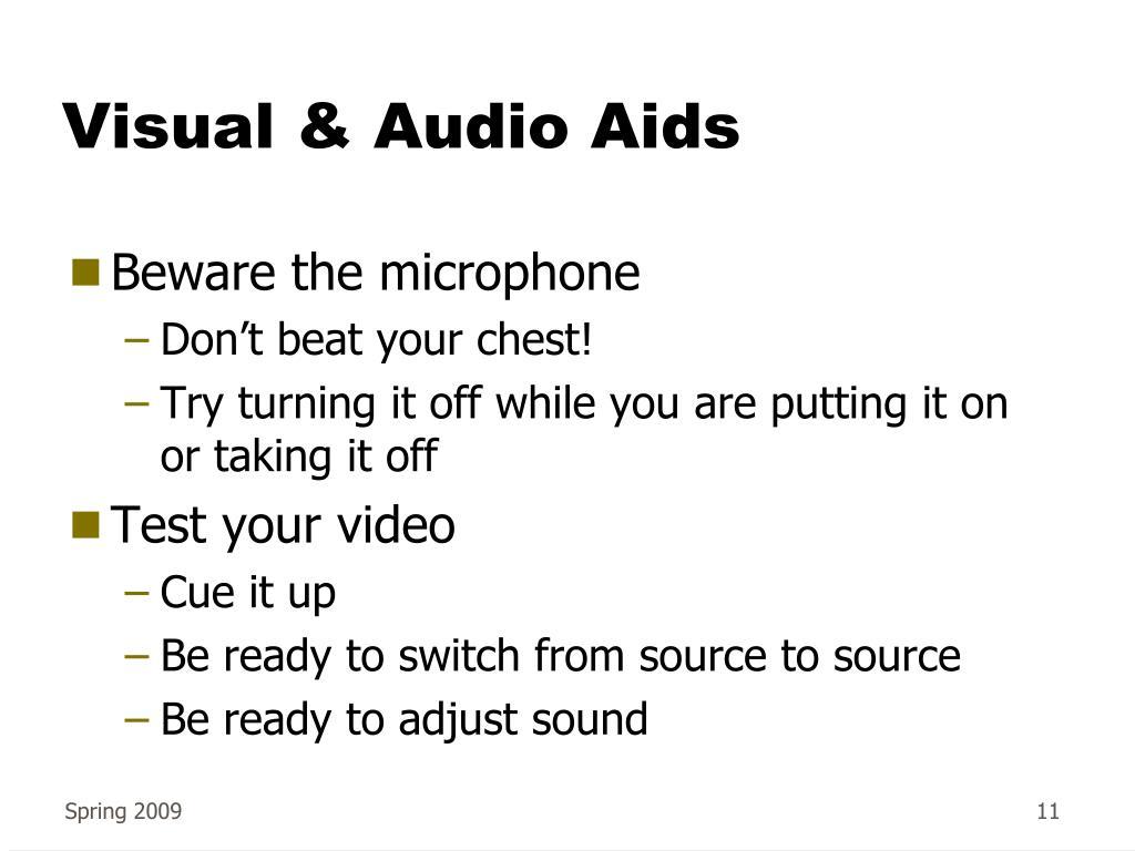 Visual & Audio Aids