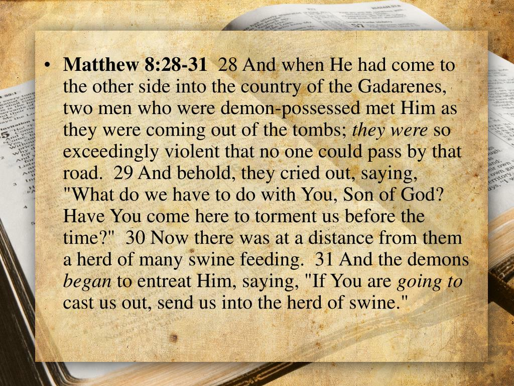 Matthew 8:28-31