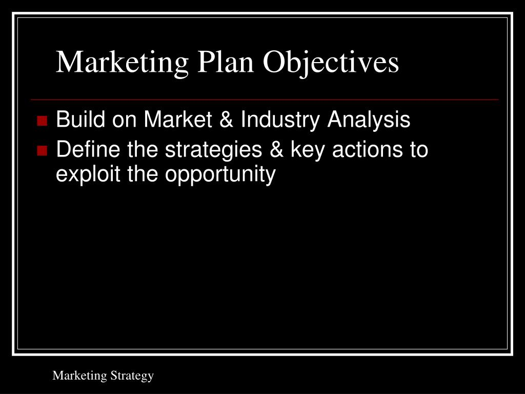 Marketing Plan Objectives