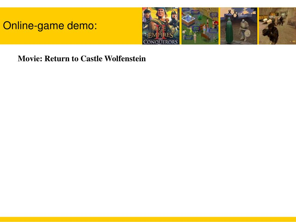 Online-game demo: