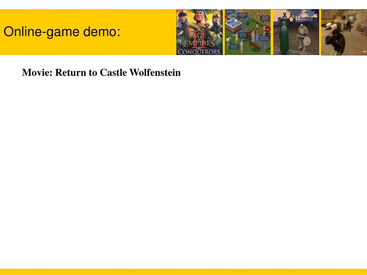 Online game demo