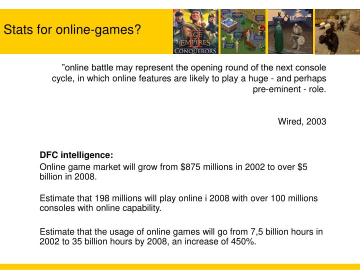 Stats for online games