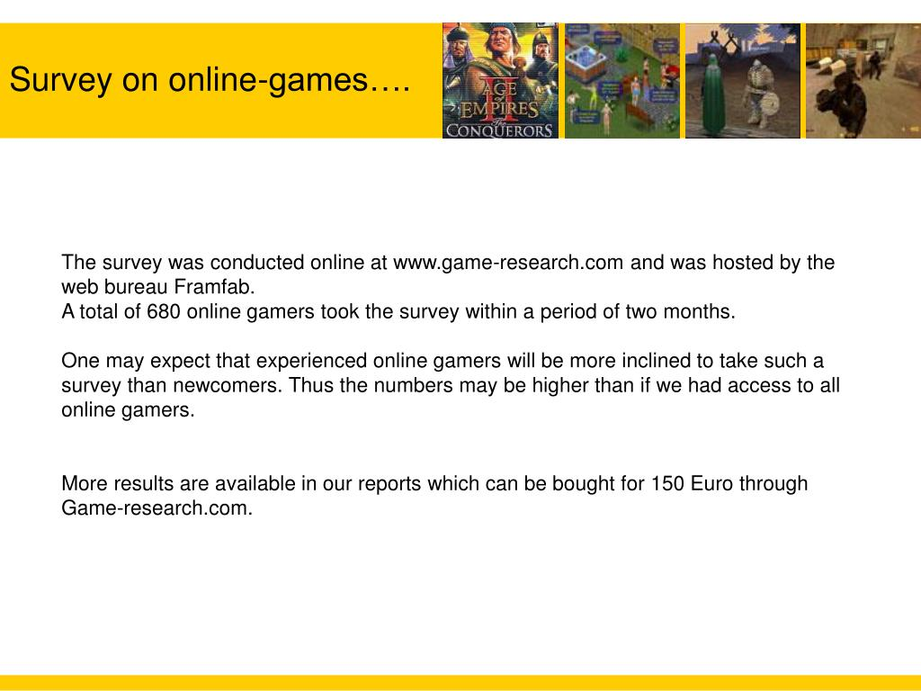 Survey on online-games….