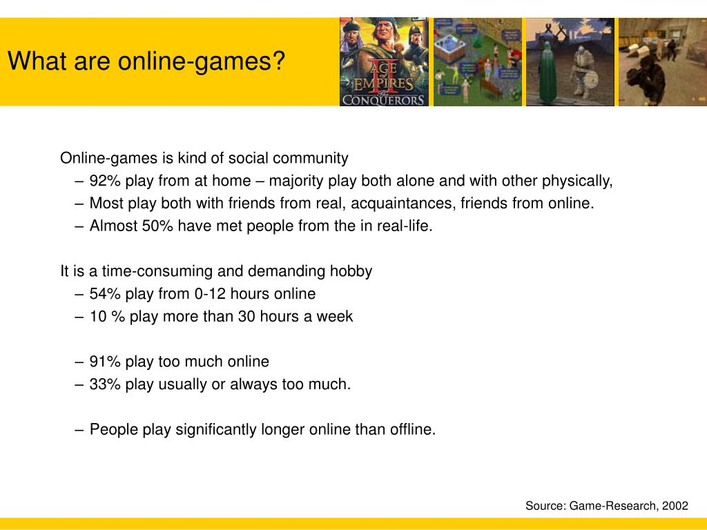 Online-games is kind of social community
