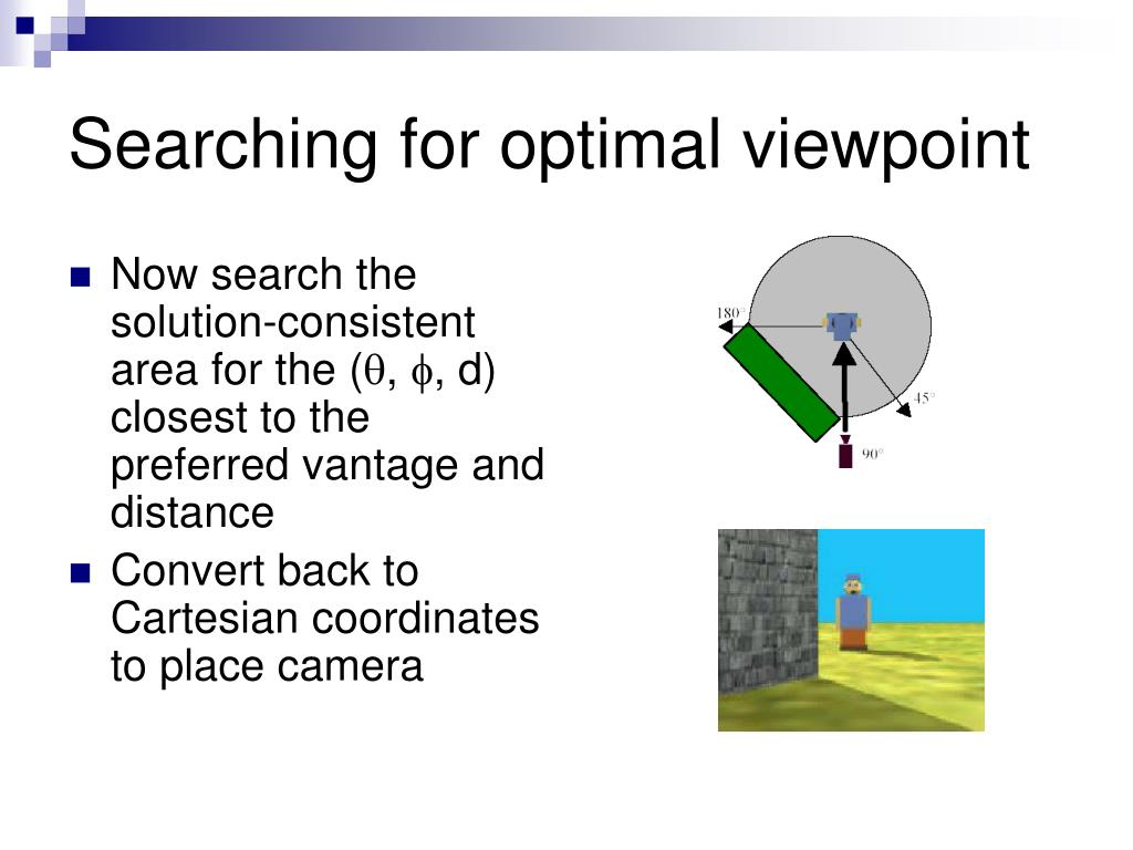 Searching for optimal viewpoint