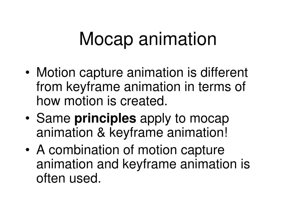 Mocap animation