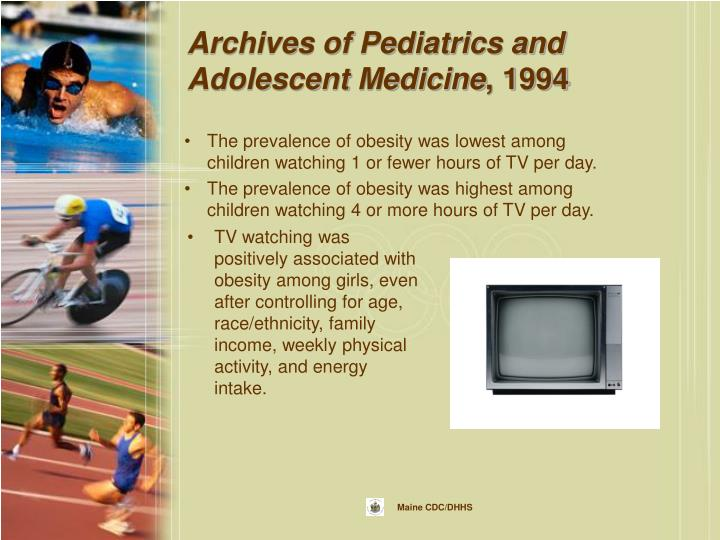 Archives of Pediatrics and Adolescent Medicine