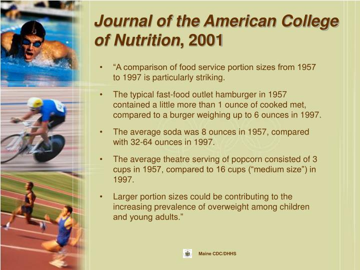 Journal of the American College of Nutrition