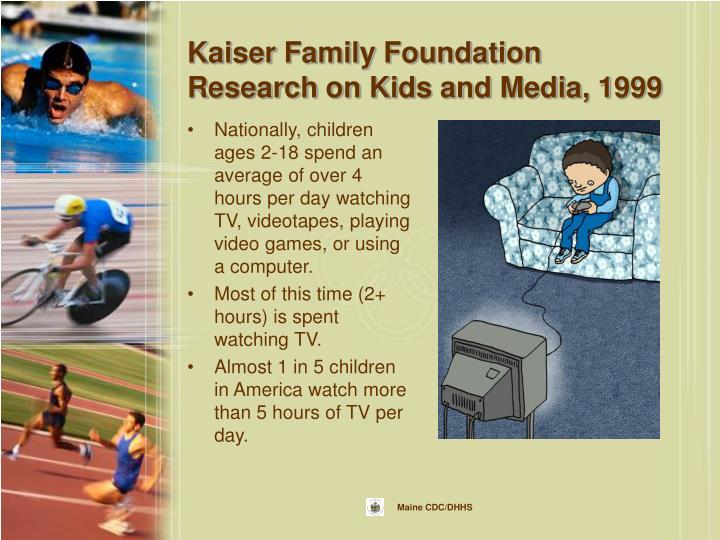 Kaiser Family Foundation Research on Kids and Media, 1999