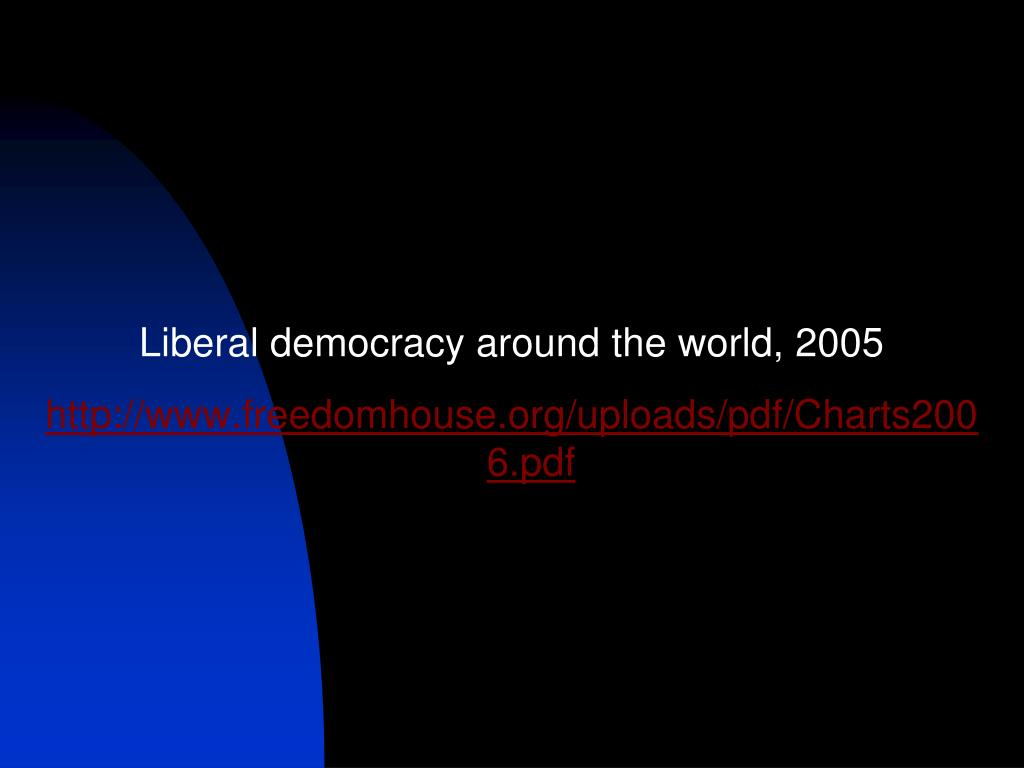 Liberal democracy around the world, 2005