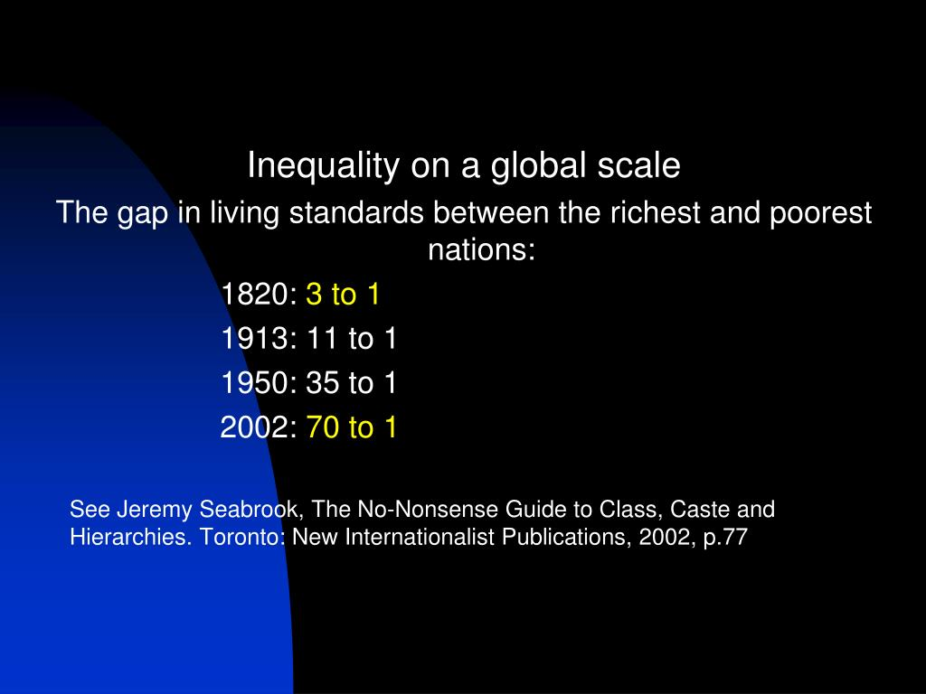Inequality on a global scale