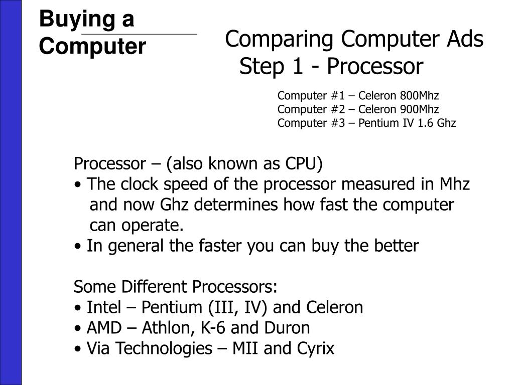 Buying a Computer
