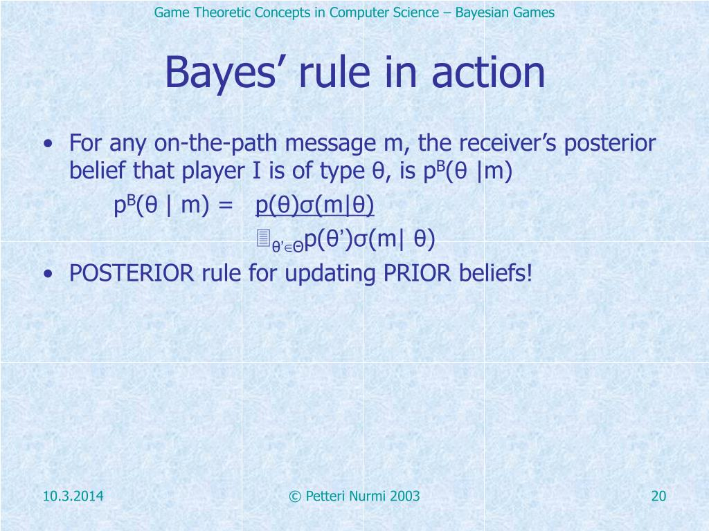 Bayes' rule in action
