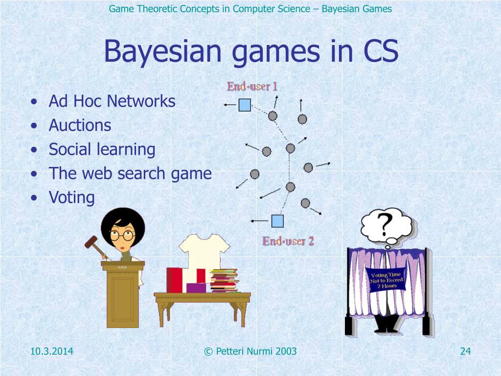 Bayesian games in CS