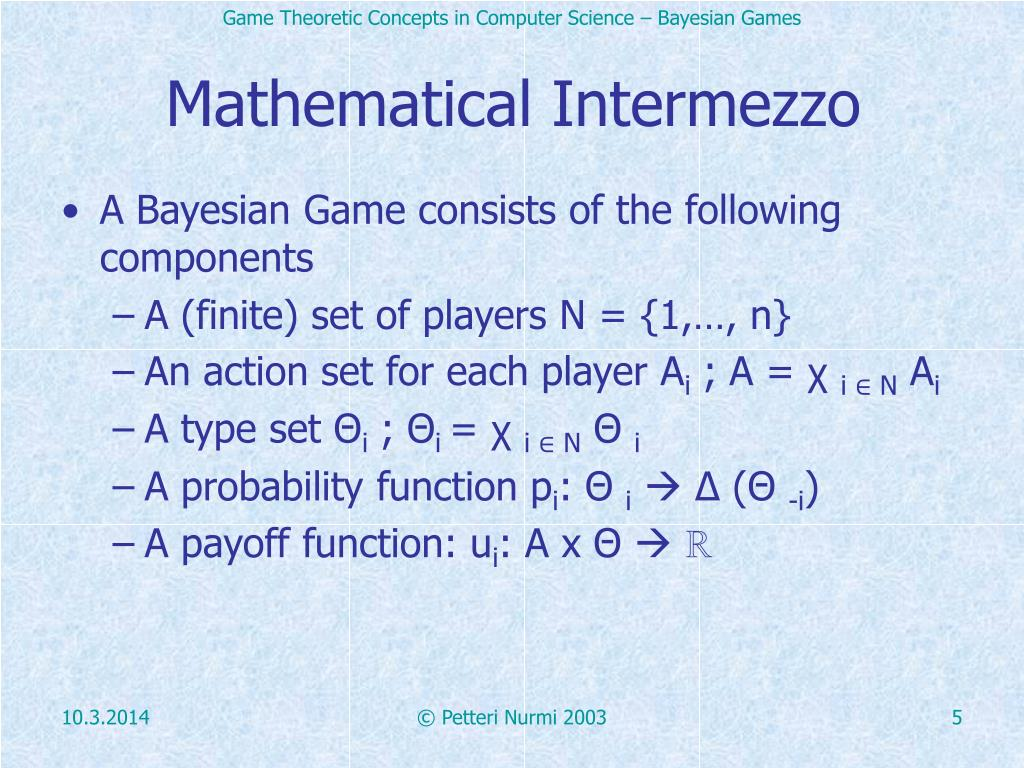 Mathematical Intermezzo