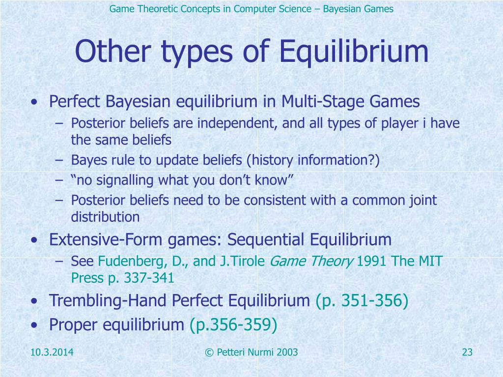Other types of Equilibrium