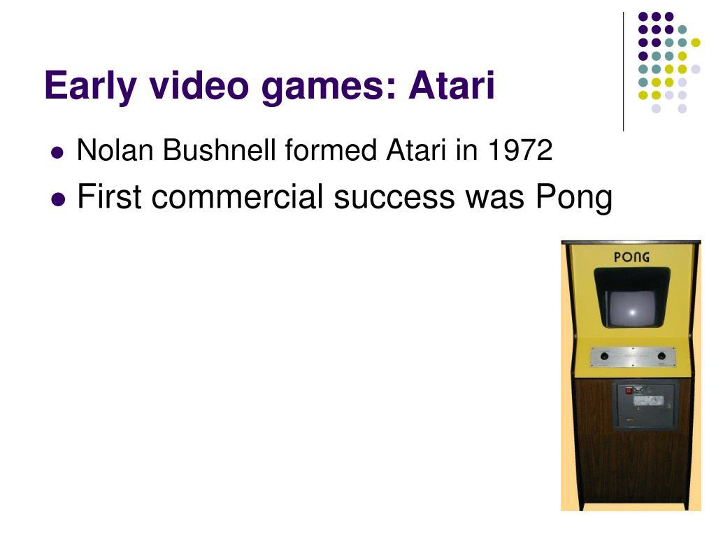 Early video games: Atari
