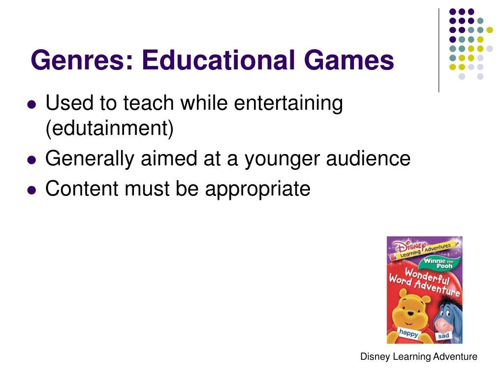 Genres: Educational Games