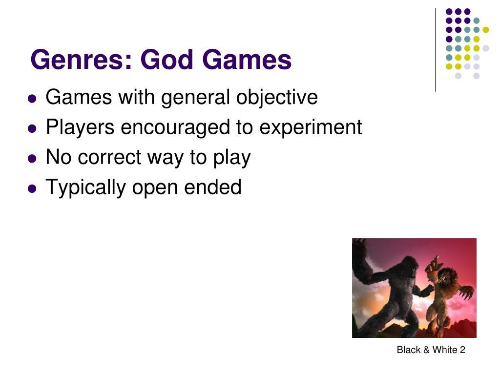 Genres: God Games