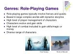genres role playing games