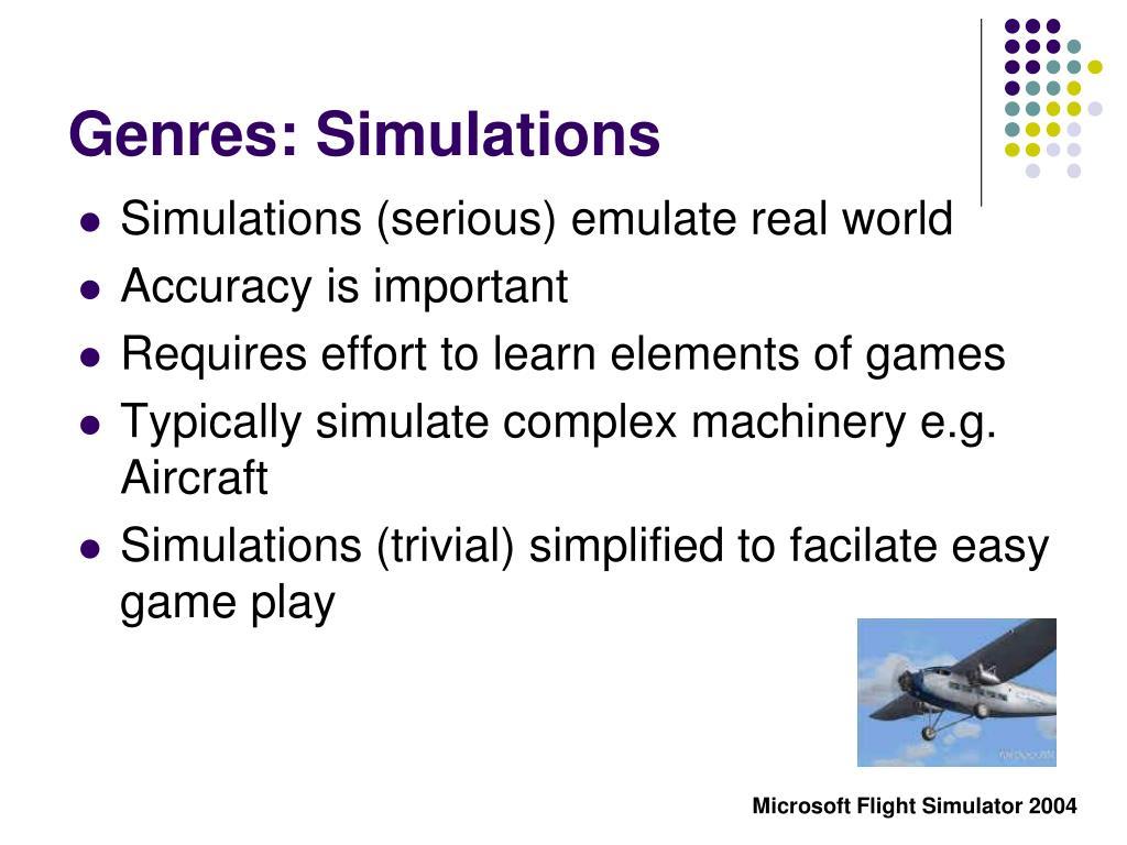 Genres: Simulations