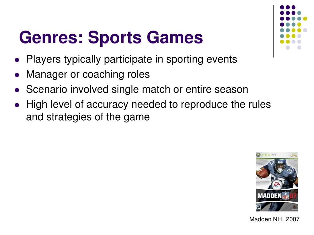 Genres: Sports Games