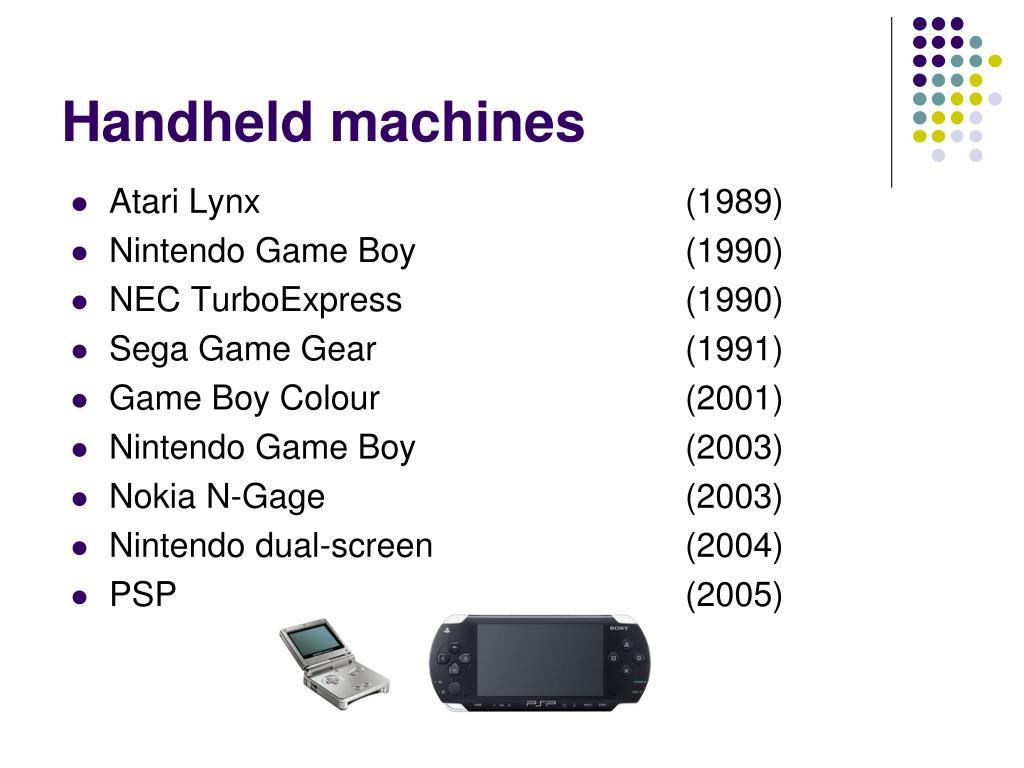 Handheld machines