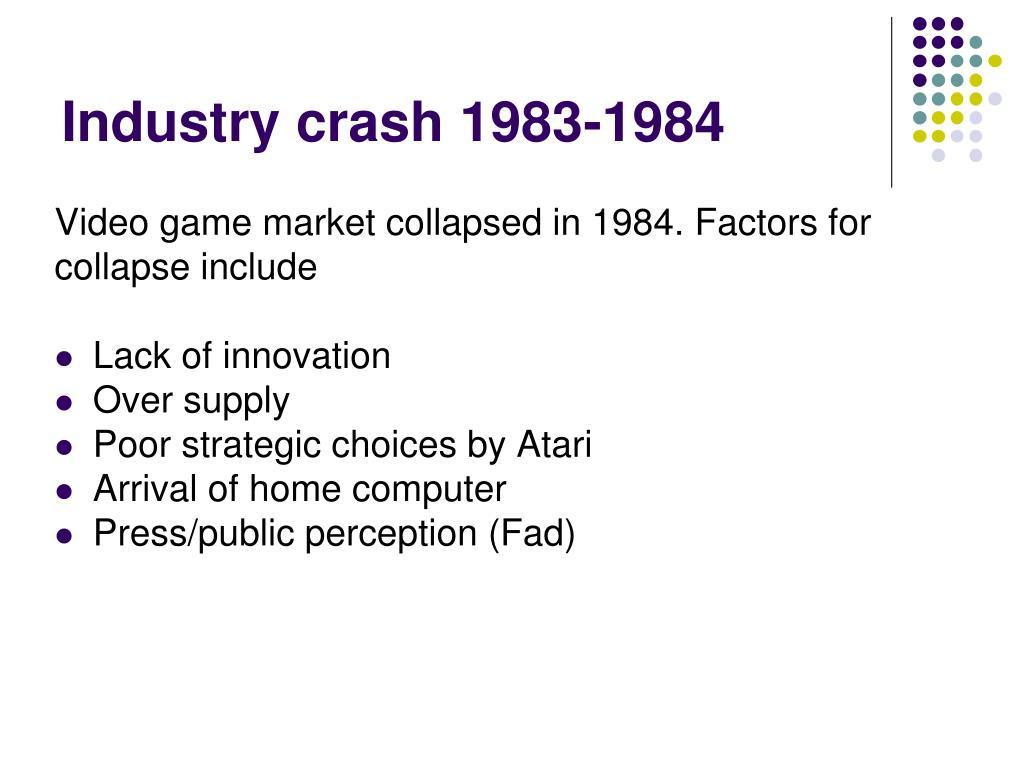 Industry crash 1983-1984