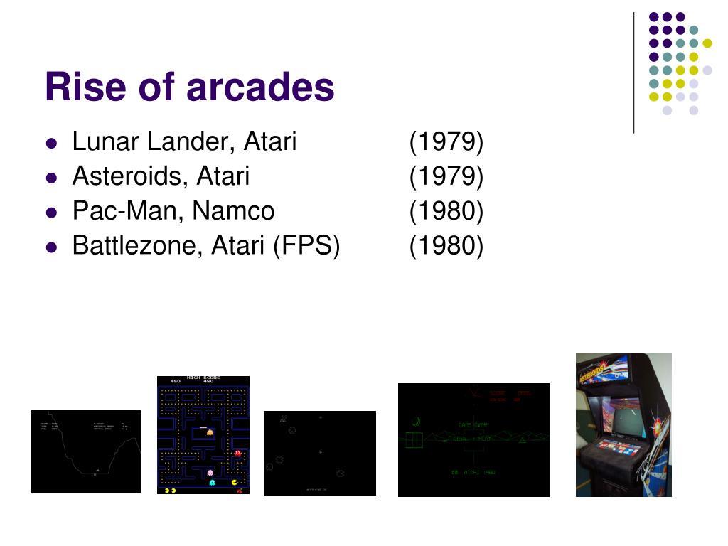 Rise of arcades