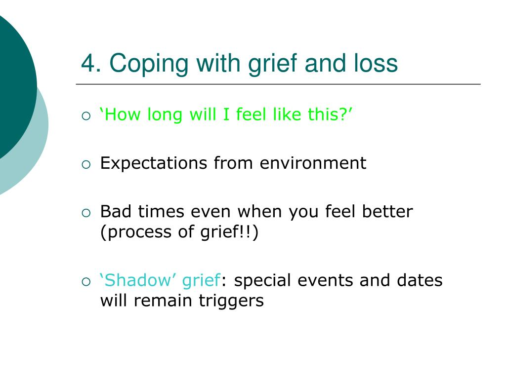 4. Coping with grief and loss