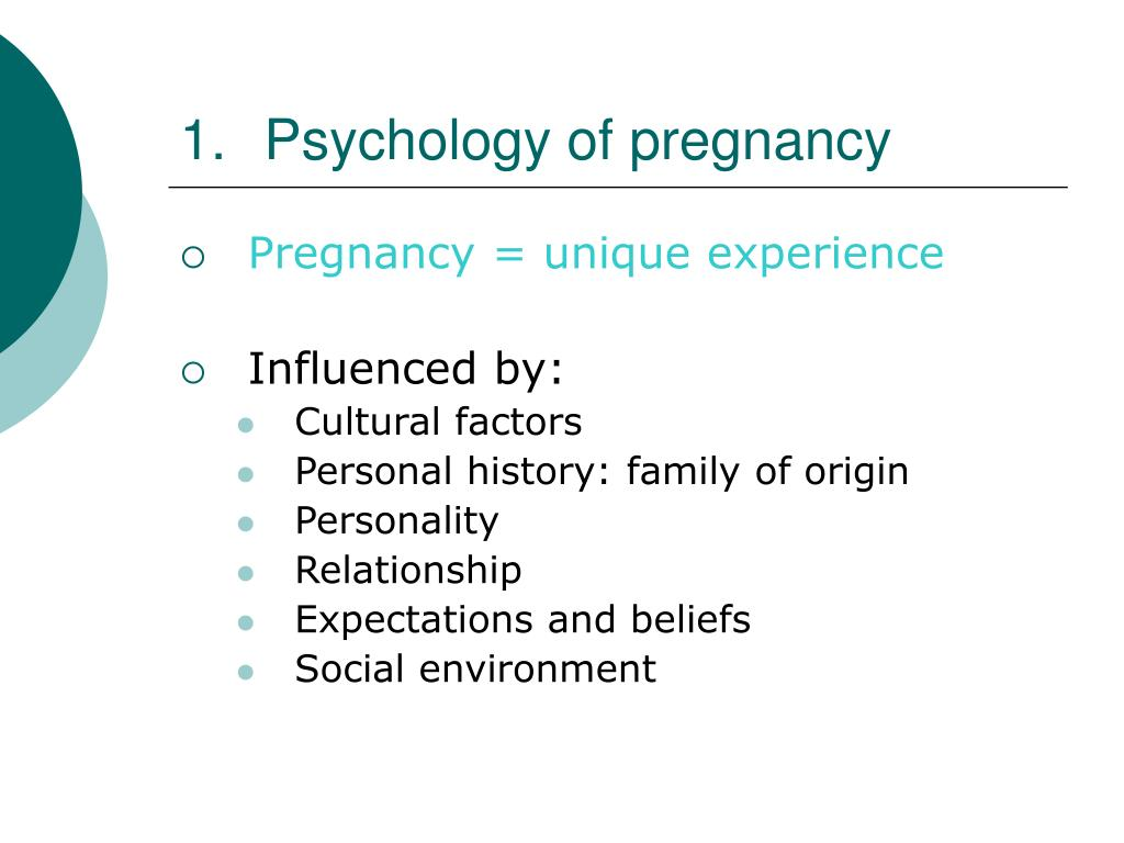 Psychology of pregnancy