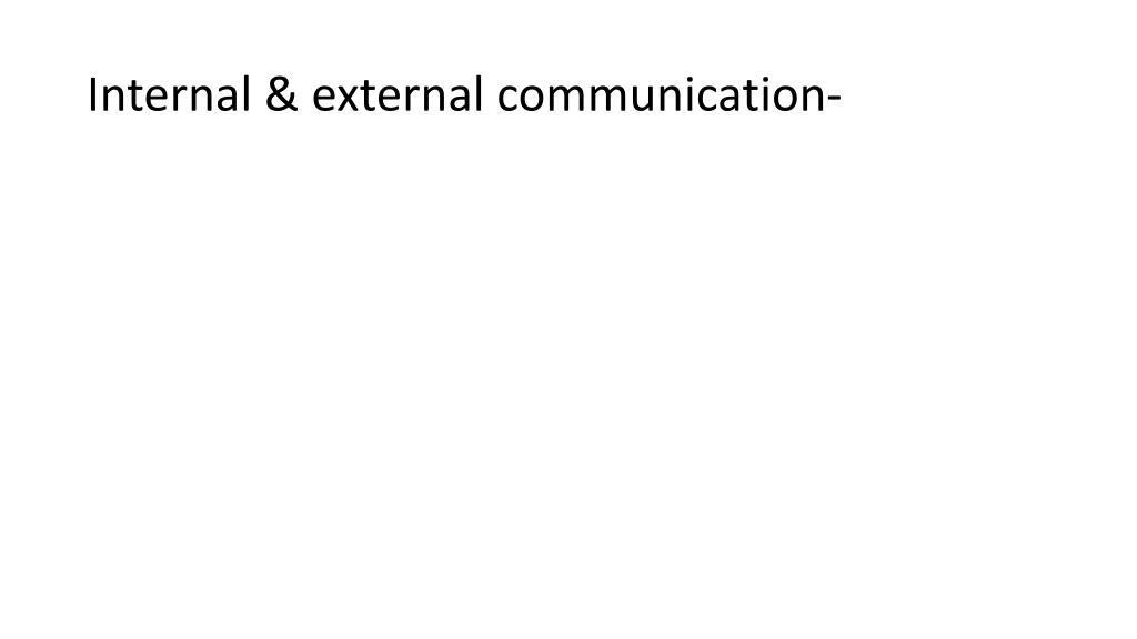 Internal & external communication-