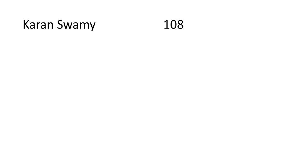 Karan Swamy                      108