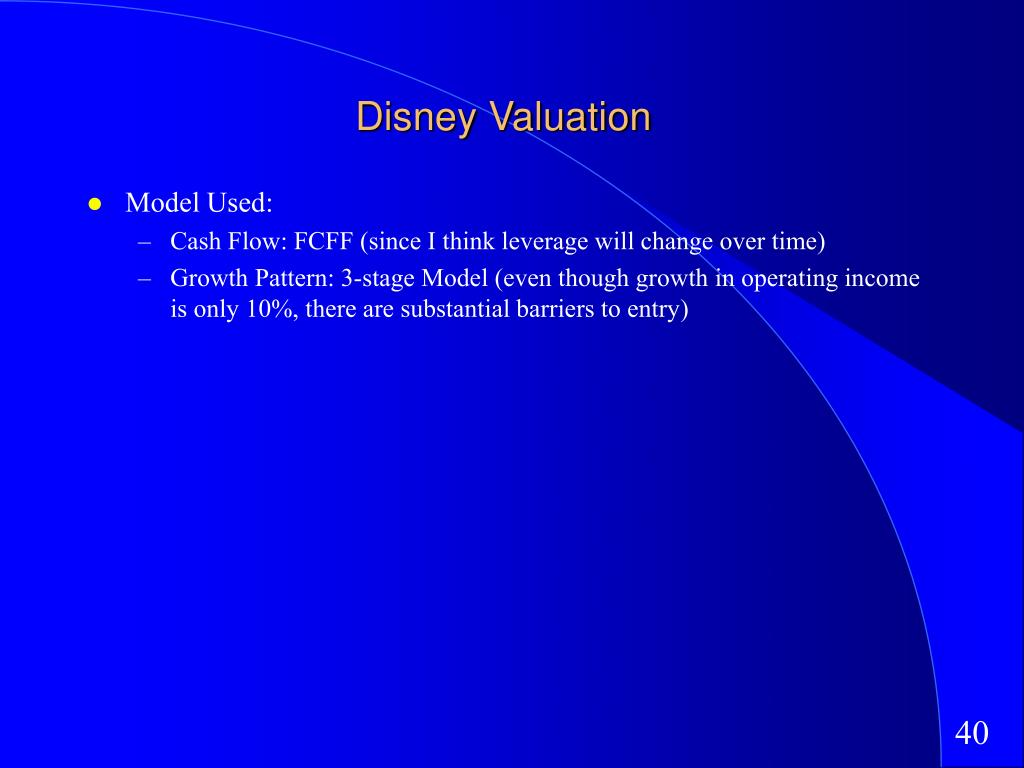 Disney Valuation