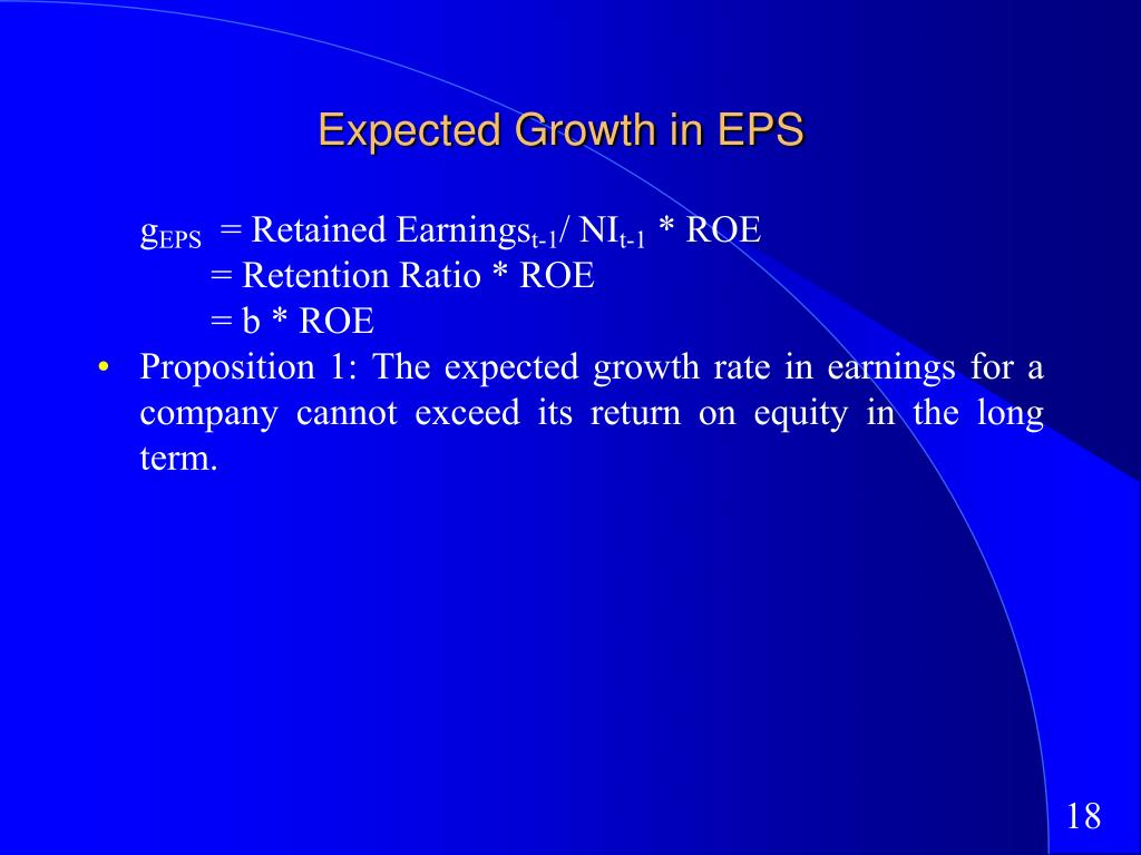 Expected Growth in EPS