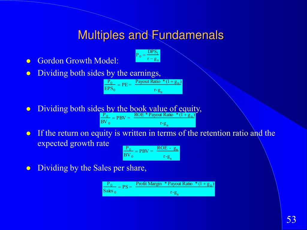 Multiples and Fundamenals