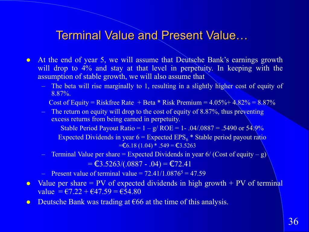 Terminal Value and Present Value…