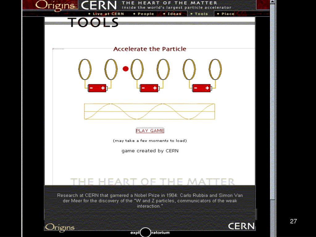 CERN Quantum Game