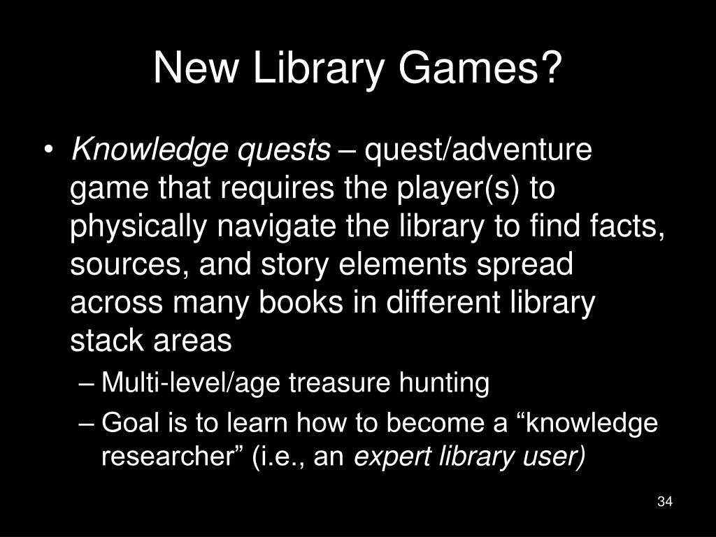 New Library Games?