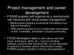 project management and career development