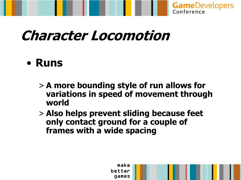 Character Locomotion