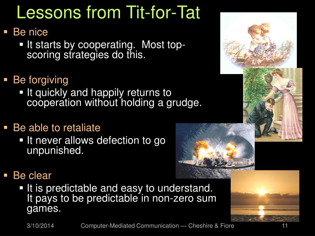Lessons from Tit-for-Tat