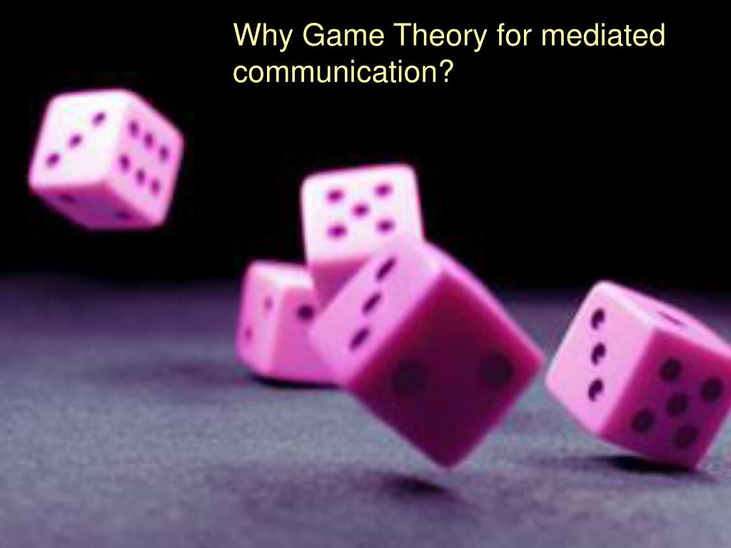Why Game Theory for mediated communication?