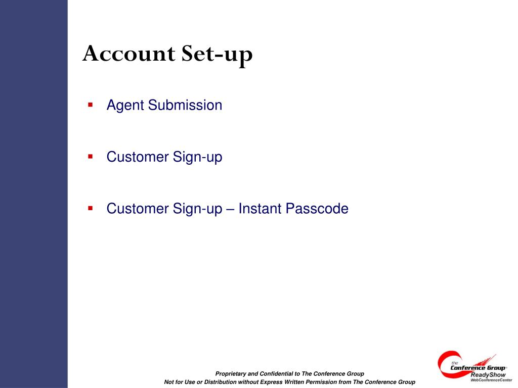 Account Set-up