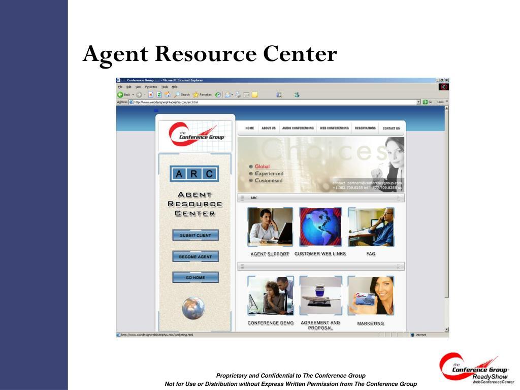 Agent Resource Center